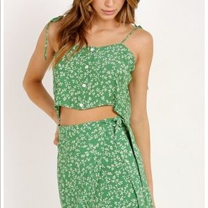 Faithfull, All Yours Top Violette Green Floral NWT